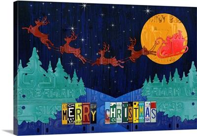 Santa Sleigh Merry Christmas