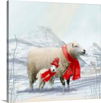 Sheep Red Scarf