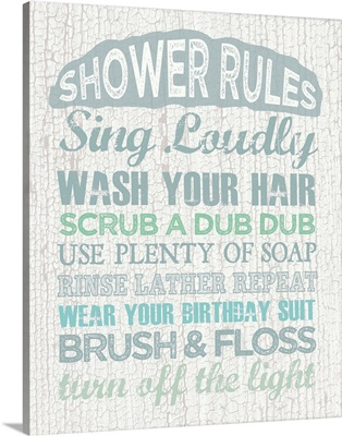 Shower Rules