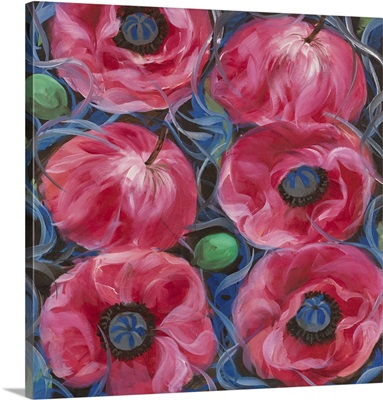 Six Pink Poppies