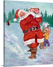 Snow Golfing Santa