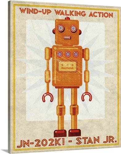 Stan Jr. Box Art Robot Wall Art, Canvas Prints, Framed Prints, Wall ...