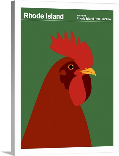 State Posters - Rhode Island State Bird: Rhode Island Red Chicken ...