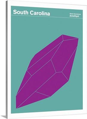 State Posters - South Carolina State Gemstone: Amethyst