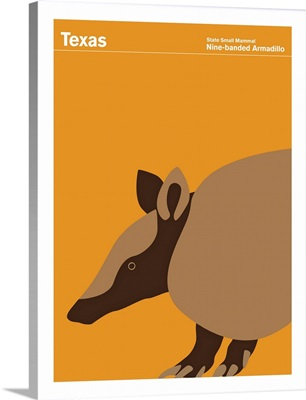 State Posters - Texas State Small Mammal: Nine-banded Armadillo