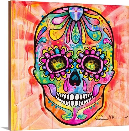 Sugar Skull - Day of the Dead Wall Art, Canvas Prints, Framed Prints ...