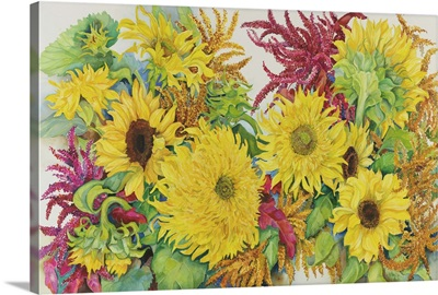 Sunflowers And Amaranth