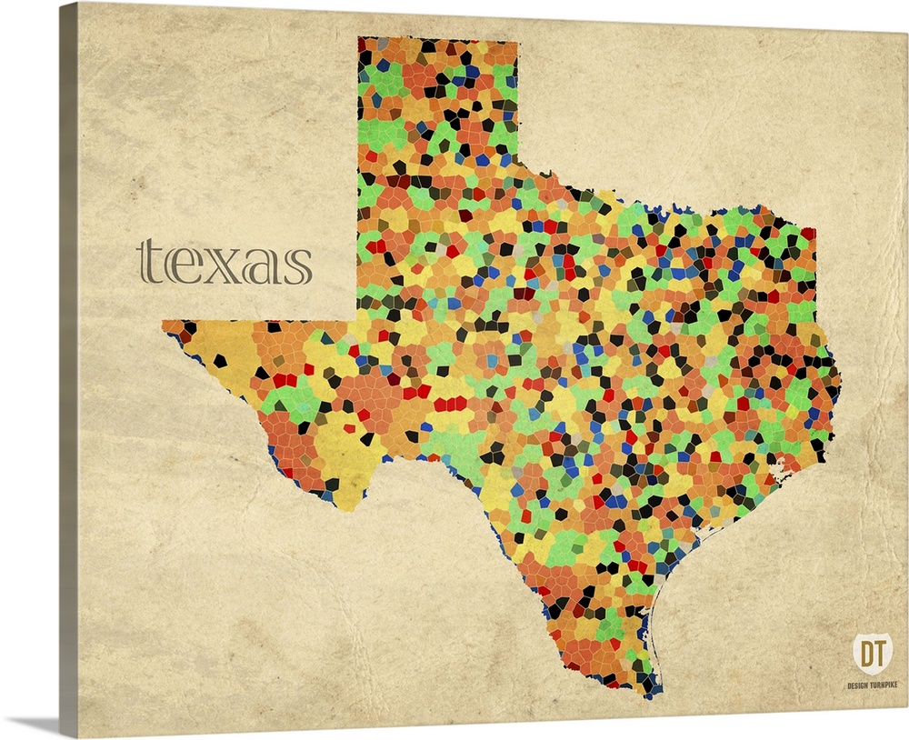 Texas County Map Wall Art Canvas Prints Framed Prints Wall