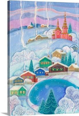 Tranquil Winter Village