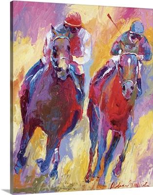 Two Jockeys Competing