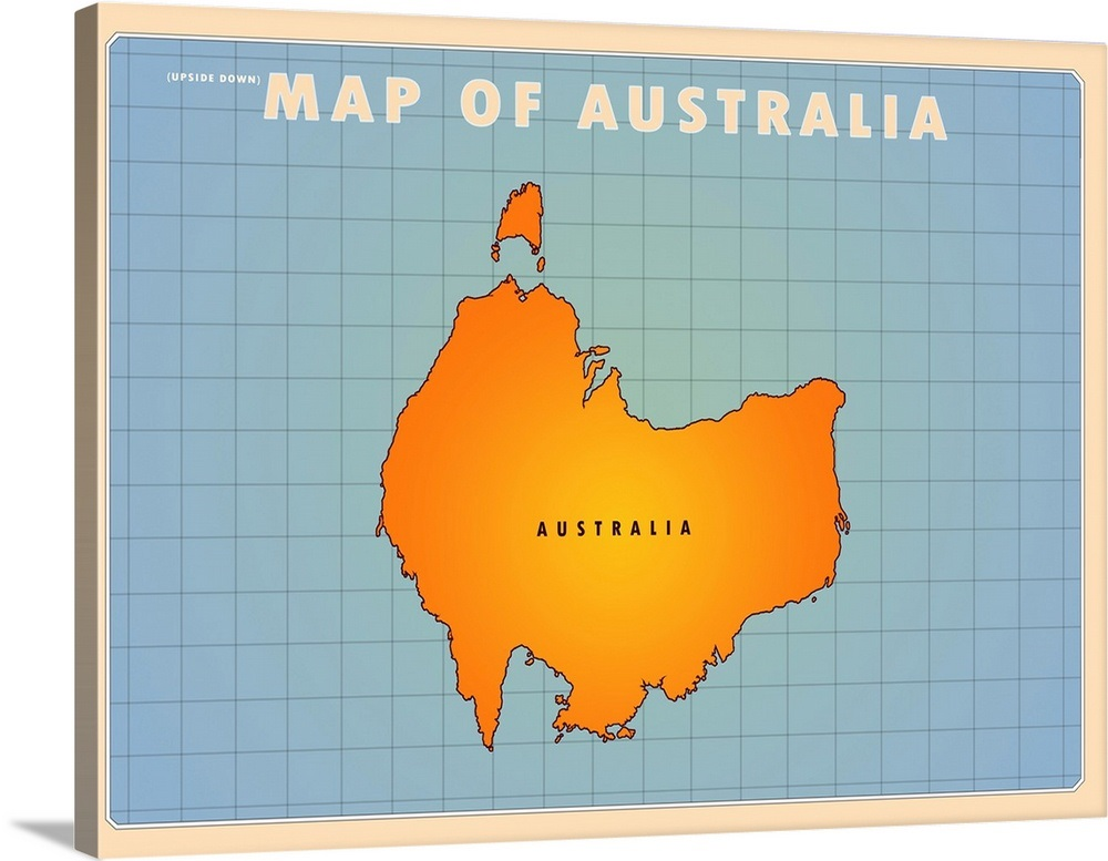 Australia Map Upside.Upside Down Australia