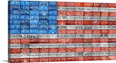 USA Flag - License Plate Art