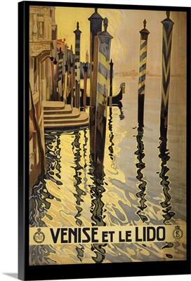Venise et le Lido - Vintage Travel Advertisement