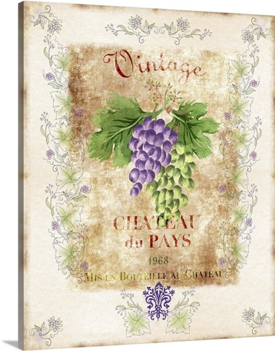 Vintage Wine Label Wall Art, Canvas Prints, Framed Prints, Wall ...