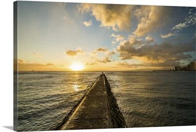 Waikiki Jetty Sunset