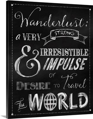 Wanderlust Chalkboard Travel Series