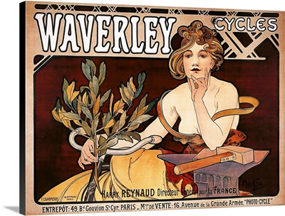 Waverly Cycles - Vintage Bicycle Advertisement