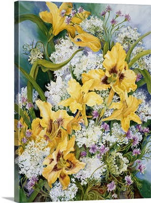 Wild Flowers And Daylilies