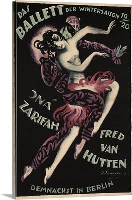 Winter Ballet, Berlin - Vintage Entertainment Advertisement