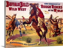 Amusements des Cowboys, Buffalo Bill, Vintage Poster
