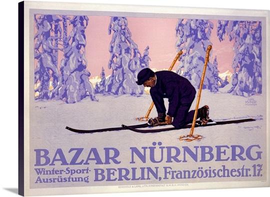 Bazar Nurnberg,Vintage Poster, by Carl Kunst