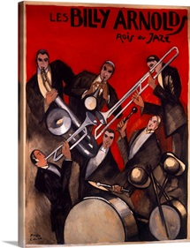 Billy Arnold Jazz Band, Vintage Poster, by Paul Colin