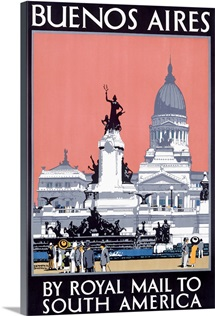 Buenos Aires, Royal Mail Line,Vintage Poster
