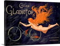 Cycles Gladiator By Georges Massias Vintage Poster