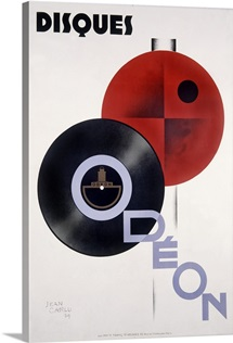 Disques, Odeon,Vintage Poster, by Jean Carlu