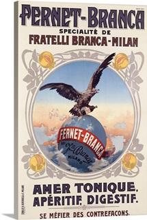 Fernet Branca, Amer Tonique, Vintage Poster