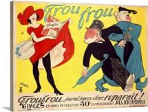Frou Frou, Journal Joyeux, Vintage Poster, by Marcel Vertes
