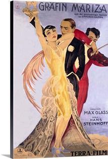 Grafin Mariza, Vintage Poster, by Josef Fenneker