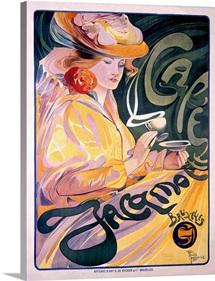 Jacqmotte Cafe, Vintage Poster