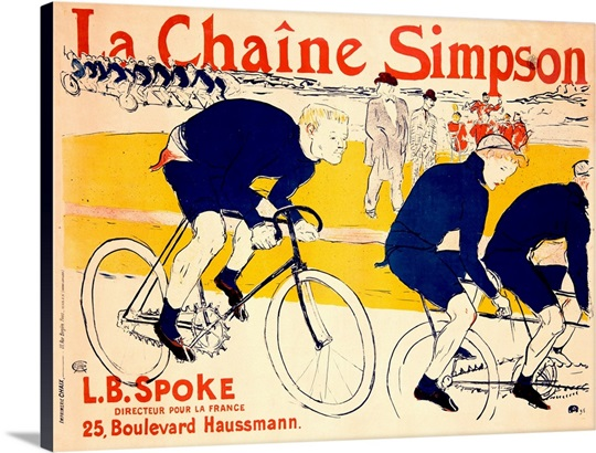 La Chaine Simpson, L.B. Spoke, Bike Chains, Vintage Poster, by Henri de Toulouse Lautrec