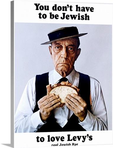 Levys Jewish Rye Vintage Advertising Poster