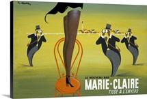 Marie Claire, Tisse a lEnvers, Vintage Poster, by Pierre Fix Masseau