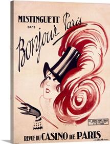 Mistinguett, Bonjour Paris, Vintage Poster, by Charles Gesmar