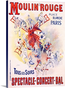 Moulin Rouge, Vintage Poster, by Jose Belon