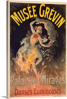 Musee Grevin, Palais Mirages, Vintage Poster, by Jules Cheret