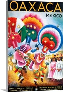 Oaxaca, Mexico,Vintage Poster