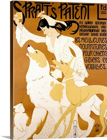 Spratts Patent Ltd, Vintage Poster, by Auguste Roubille