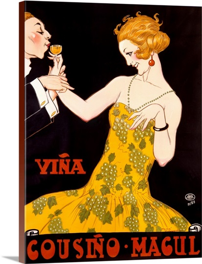 Vina Cousino Magul, Vintage Poster, by Rene Vincent