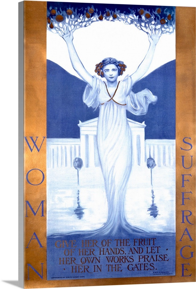 Woman Suffrage Vintage Poster By Evelyn Rumsey Cary Wall