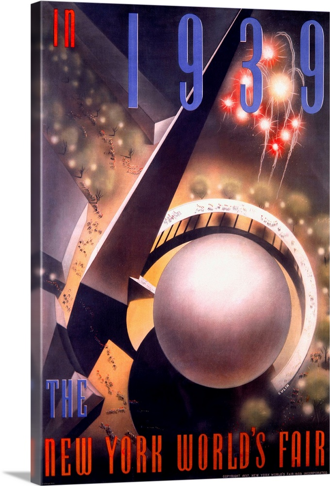 new york worlds fair vintage poster