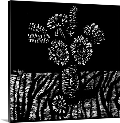 Flowers In A Woodcut, 2018