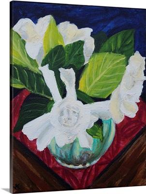 Gardenias In Diana Vase