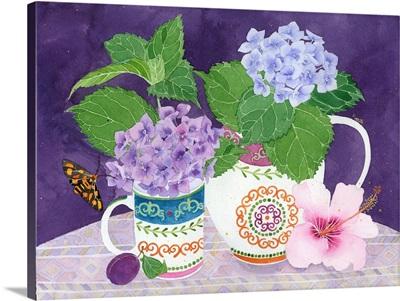 Hydrangeas And Hibiscus