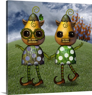 Monster Twins Of Quirky