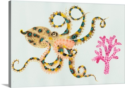 Octopus And Coral