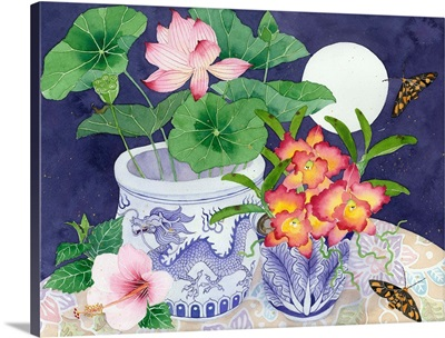 Still Life With Lotus And Orchids